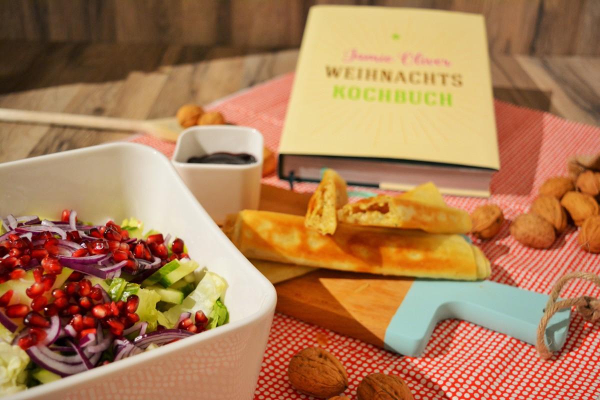 Leichte Sommerküche Jamie Oliver : Camembertstangen mit wintersalat cranberrydip von jamie oliver