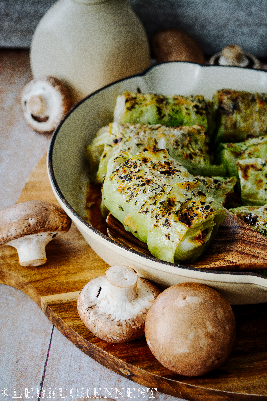 Kohlrouladen Mit Reis Pilzen My Little Green Kitchen Von Sylwia Gervais Rezension Lebkuchennest