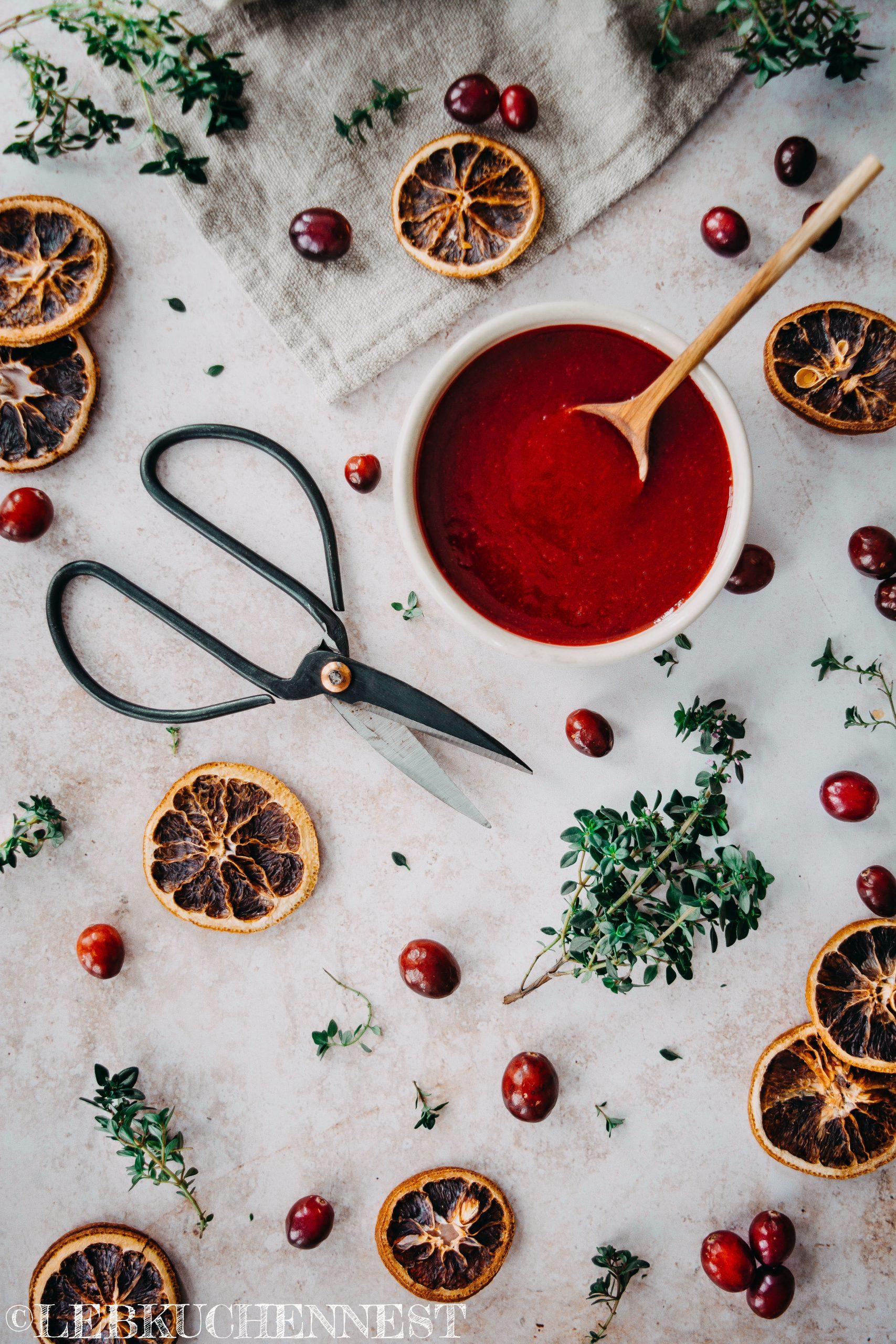 Festliche Cranberriesauce - Weihnachten