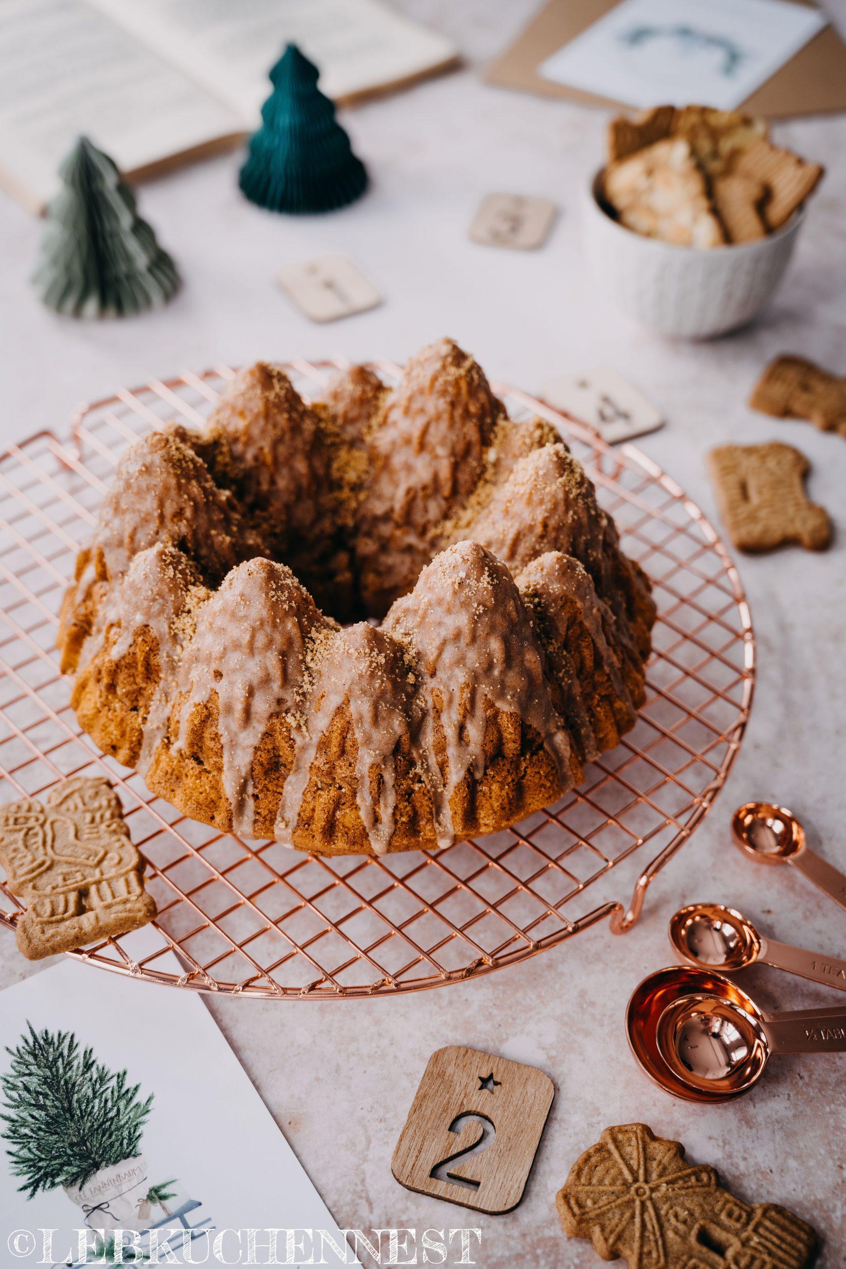 Spekulatiusgugelhupf aus der Weihnachtsbäckerei zum 4. Advent