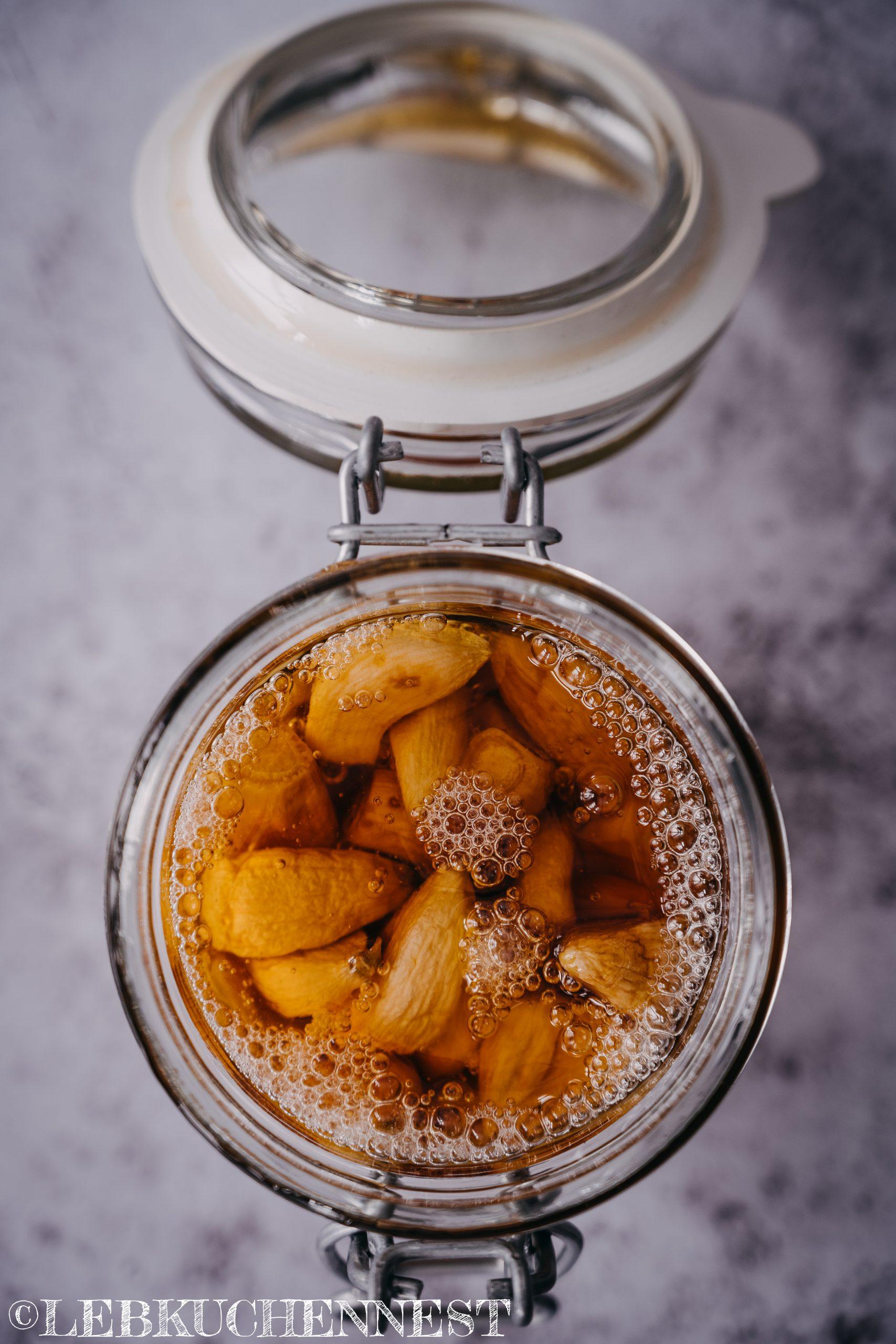 Fermentation - Knoblauch in Honig gereift