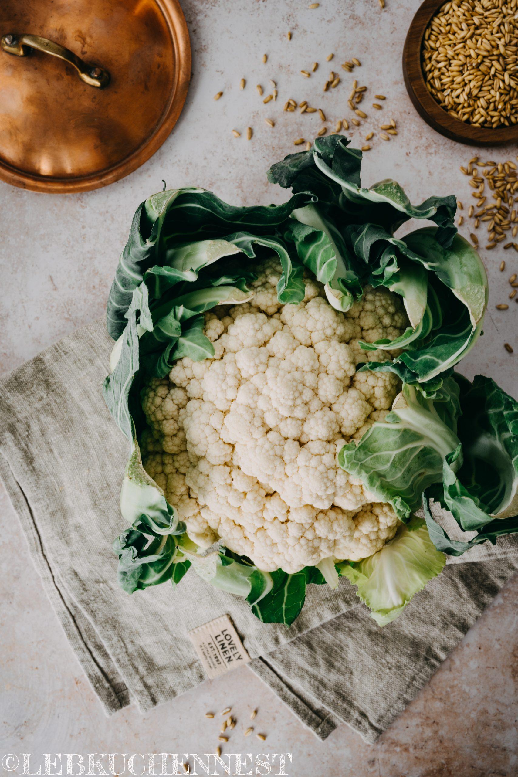 Blumenkohl für Leaf to Root Blumenkohlcouscous - Kochen in Kupfer