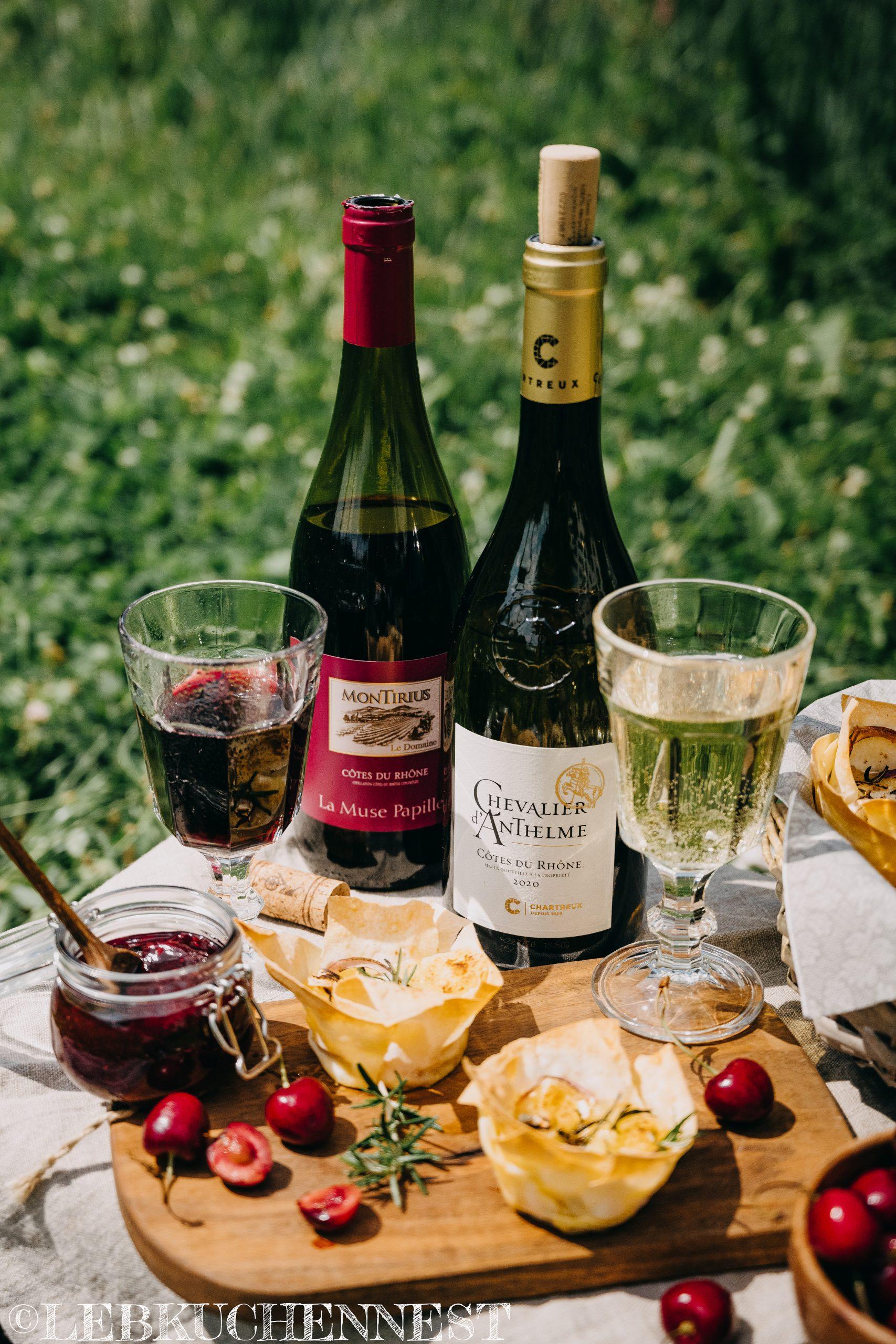 Picknick mit Côtes de Rhône