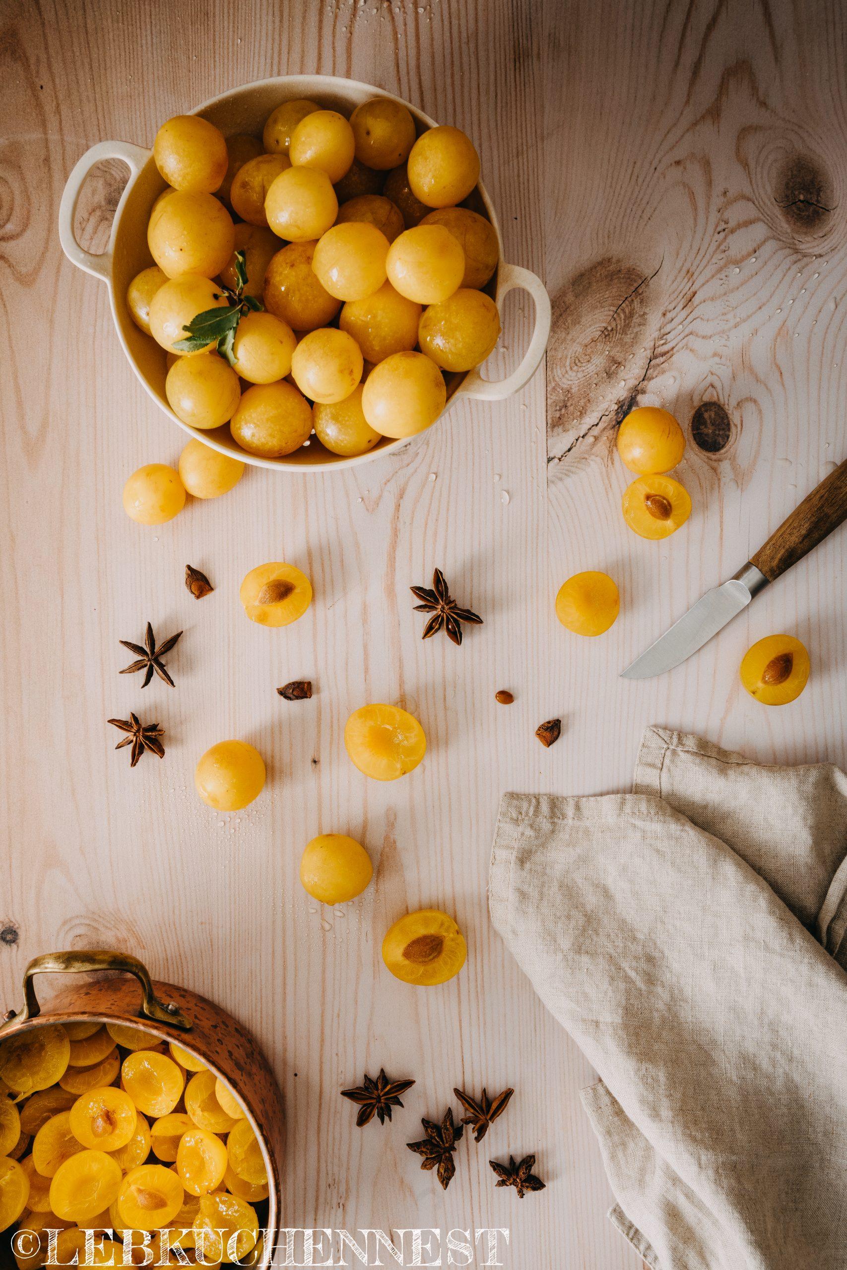 Kirschpflaumen und Anis