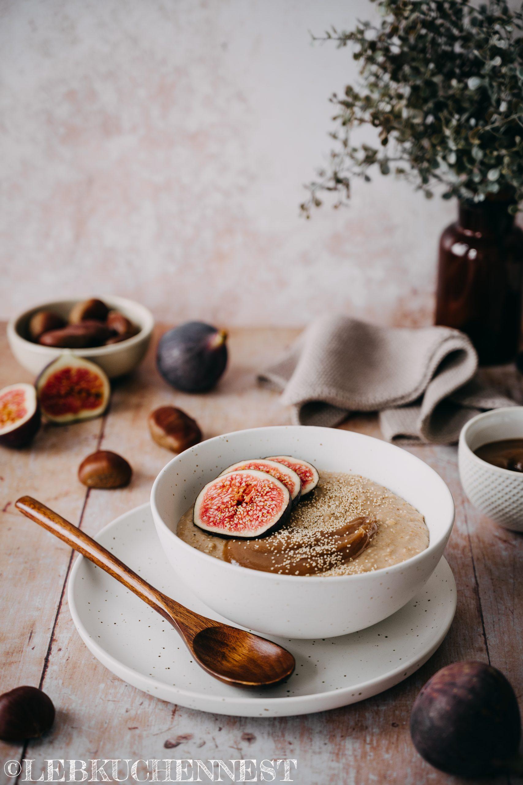 Maronen-Porridge mit Hafer die Alleskörner